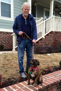 Jim Brownlow and his new ACAS shelter dog, Ruthie, benefited from their training session with Susi Cohen.