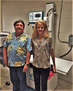 Ken and Lisa Kasper donated a digital x-ray machine to FOTAS.