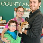 BEAGLE MIX MARLIN WAS ADOPTED BY THE WILLIAMS FAMILY , AIKEN ON DEC 23