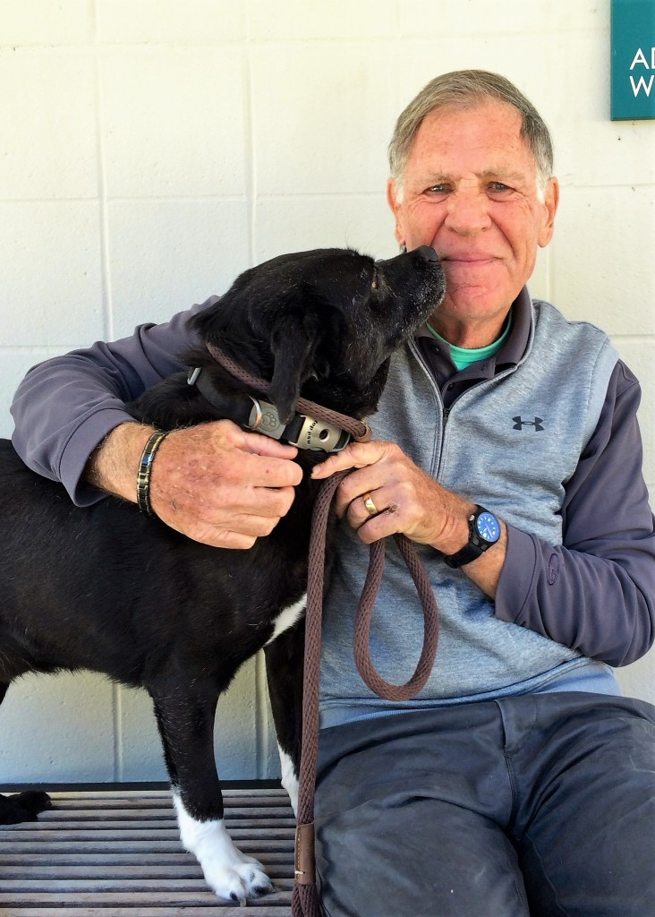 FOTAS Volunteer John Berk enjoys walking and spending time with shelter dogs like Arthur.