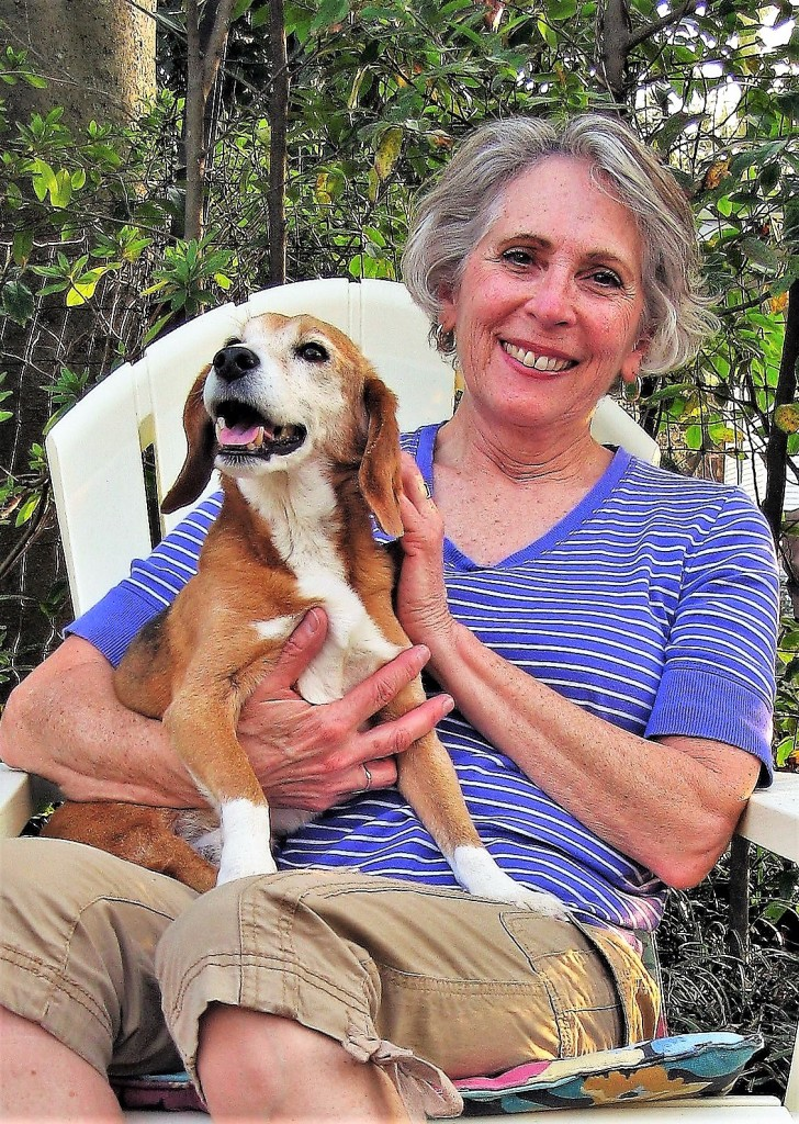 Nancy Wagner and  Benny, relaxing at home.