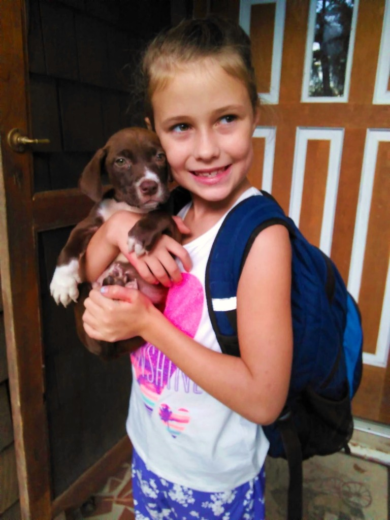 audrey with pup aug 2016