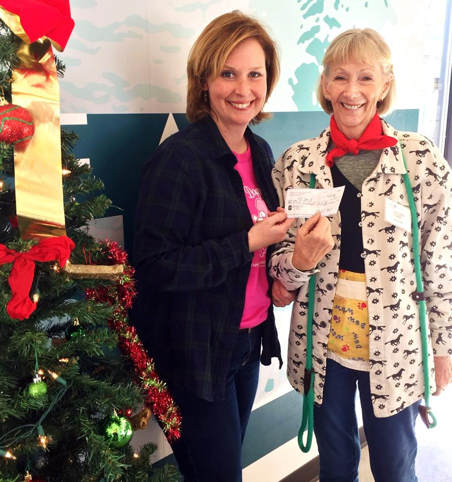 Kathy Jacobs, FOTAS Programs Manager and volunteer, and Susi Cohen, FOTAS volunteer and Palmetto Dog Club President
