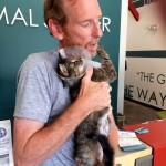 Brad Harris adopted Ilean, a three-legged cat who's had a difficult past.
