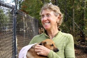 FOTAS Super Foster Manuela Segre-Amar holds puppy Rose